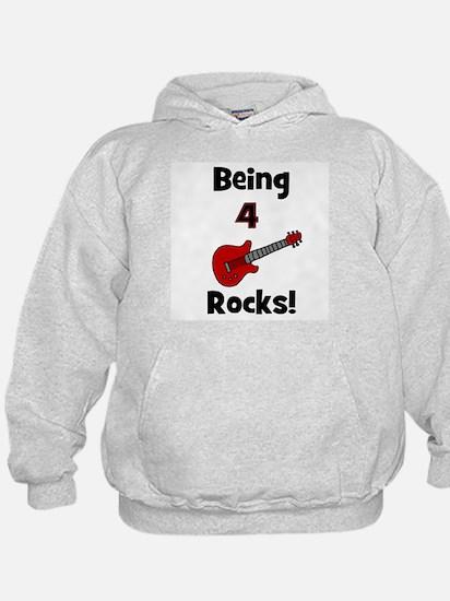 Being 4 Rocks! Guitar Hoodie