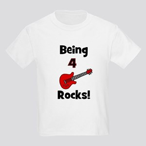 Being 4 Rocks! Guitar Kids T-Shirt