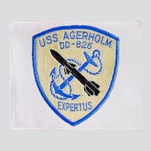 USS AGERHOLM Throw Blanket