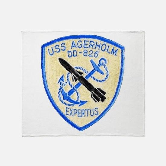 USS AGERHOLM Throw Blanket
