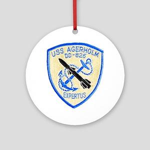 USS AGERHOLM Round Ornament
