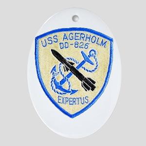 USS AGERHOLM Oval Ornament