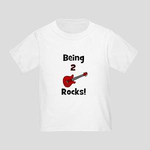 Being 2 Rocks! Guitar Toddler T-Shirt