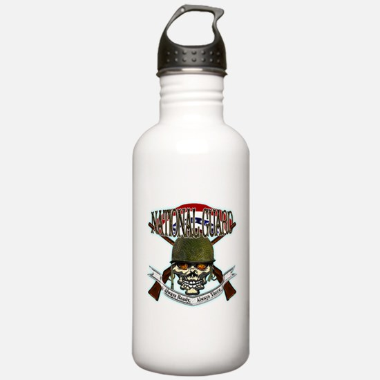 US Army National Guard Skull Water Bottle