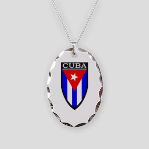 Cuba Patch Necklace Oval Charm