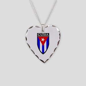 Cuba Patch Necklace Heart Charm