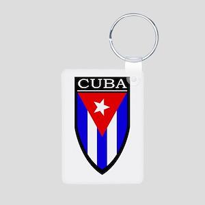 Cuba Patch Aluminum Photo Keychain