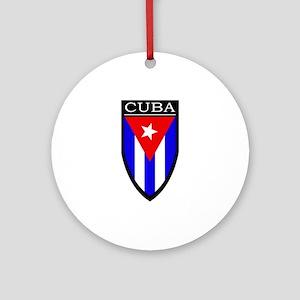 Cuba Patch Ornament (Round)