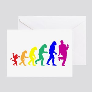Gay Evolution Greeting Card