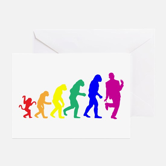 Gay Evolution Greeting Cards (Pk of 10)