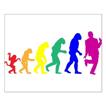 Gay Evolution Small Poster