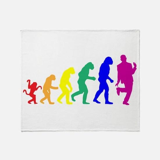 Gay Evolution Throw Blanket