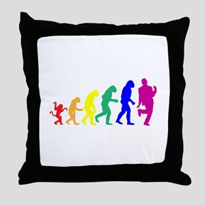 Gay Evolution Throw Pillow