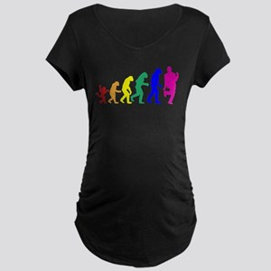 Gay Evolution Maternity Dark T-Shirt