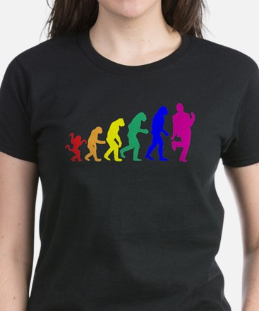 Gay Evolution Women's Dark T-Shirt