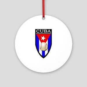 Cuba (Baseball) Patch Ornament (Round)