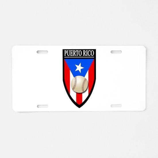 Puerto Rico (Baseball) Aluminum License Plate