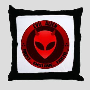 Evil Alien Throw Pillow