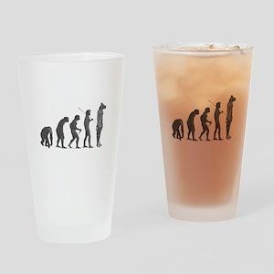 Evolution - Lost statue Pint Glass