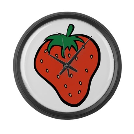 Strawberry Icon Large Wall Clock