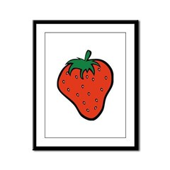 Strawberry Icon Framed Panel Print