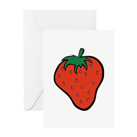 Strawberry Icon Greeting Card