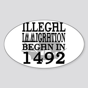 1492 Oval Sticker