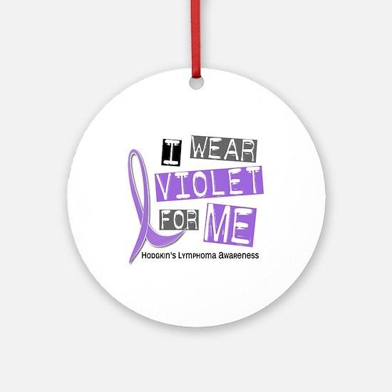 I Wear Violet 37 Hodgkin's Lymphoma Ornament (Roun