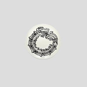 Aztec Ouroboros Symbol Mini Button