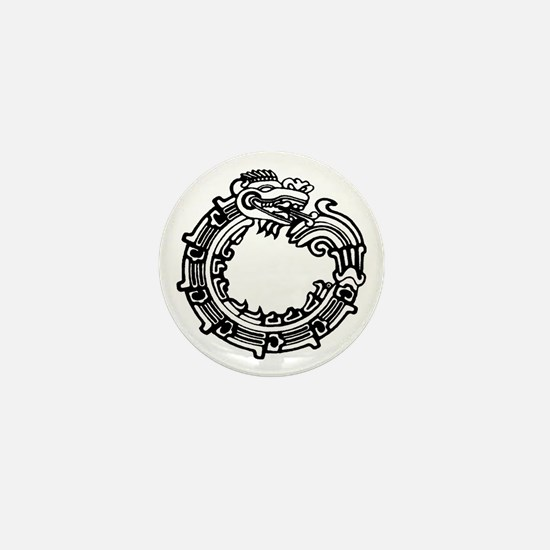 Aztec Ouroboros Symbol Mini Button