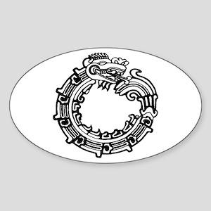 Aztec Ouroboros Symbol Sticker (Oval)