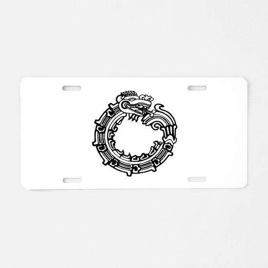 Aztec Ouroboros Symbol Aluminum License Plate