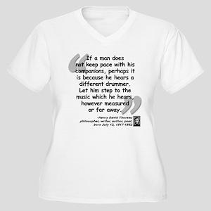 Thoreau Drummer Quote Women's Plus Size V-Neck T-S