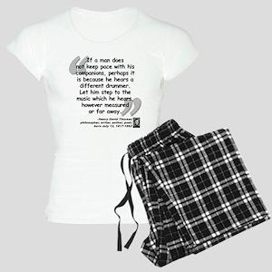 Thoreau Drummer Quote Women's Light Pajamas