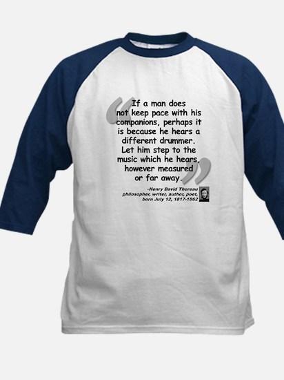 Thoreau Drummer Quote Kids Baseball Jersey