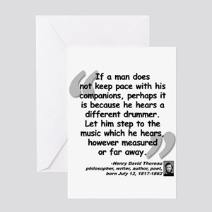 Thoreau Drummer Quote Greeting Card