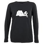 Jtree Intersection Rock V Neck Long Sleeve T-Shirt