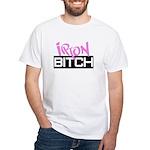 Iron Bitch White T-Shirt