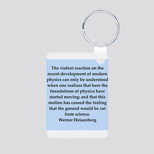 werner heisenberg quotes Aluminum Photo Keychain