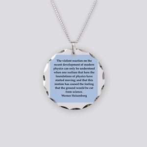 werner heisenberg quotes Necklace Circle Charm
