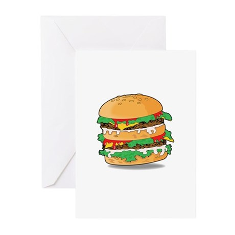 Cartoon Hamburger Greeting Cards (Pk of 20)