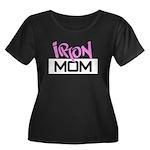 Iron Bitch Women's Plus Size Scoop Neck Dark T-Shi