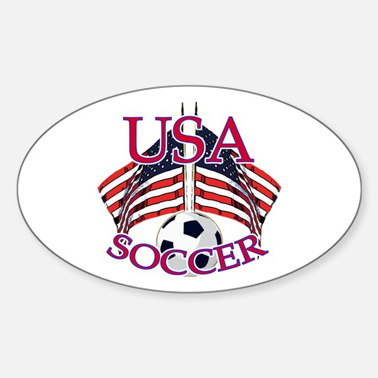 USA Soccer Sticker (Oval)