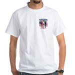 Patriotic Parrots White T-Shirt