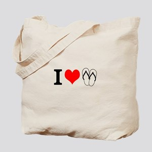 I Heart Flip Flops Tote Bag