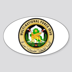 Iraq Force Oval Sticker