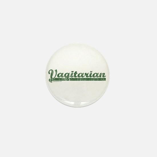 Green Vagitarian Mini Button