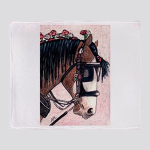 SHIRE HORSE 2 Throw Blanket