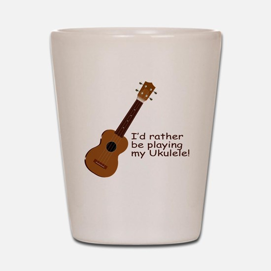 Ukulele Design Shot Glass