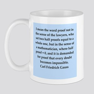 Carl Friedrich Gauss quote Mug